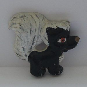 VTG Skunk Wall Art Decor Decorations Black White